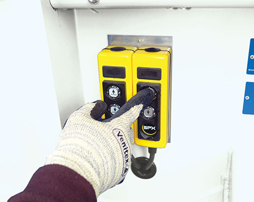 operate hydraulics using the push button controls