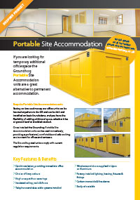 Portable Site Accommodation Brochure