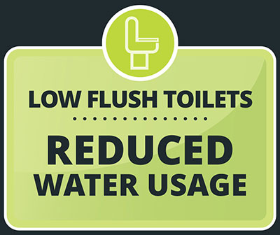 Reduced water usage