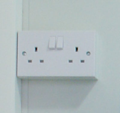 Double power socket for external power source