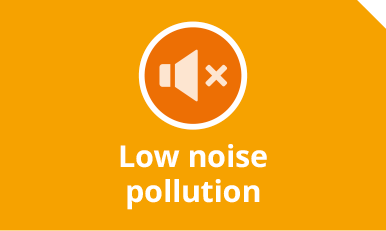 Low noise pollution